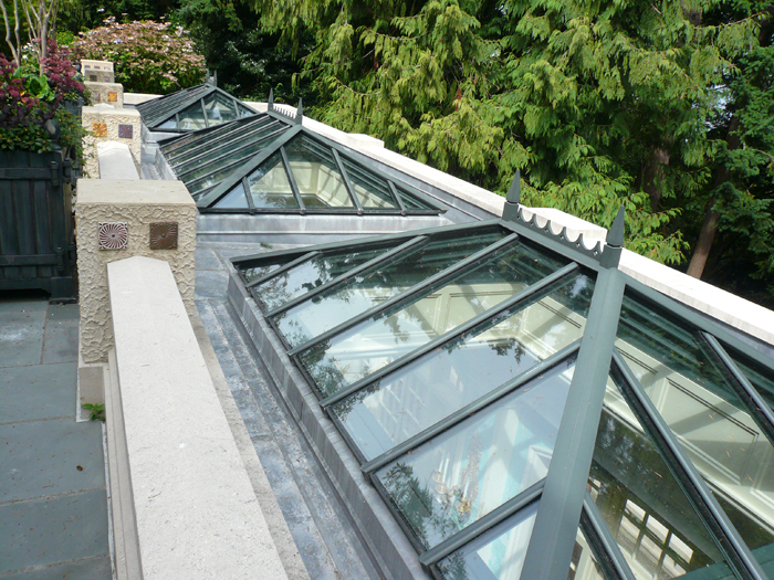 Architectural glass skylights for Greenhouse skylights